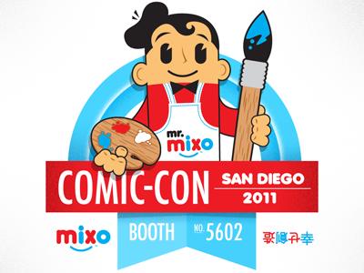 Mixo Comic Con Badge