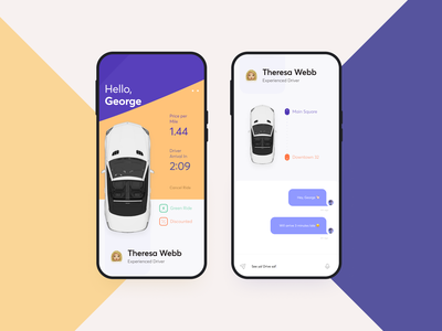 Ride Sharing App Ui Ux Design typography branding interface green sharepoint illustration print profile colorful color people chat product design mobile car app rideshare ride