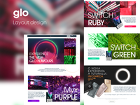 Layout design layout glo homepage web design web ui