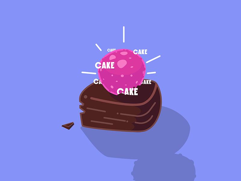 Cake graphics line sugar cake vector illustration
