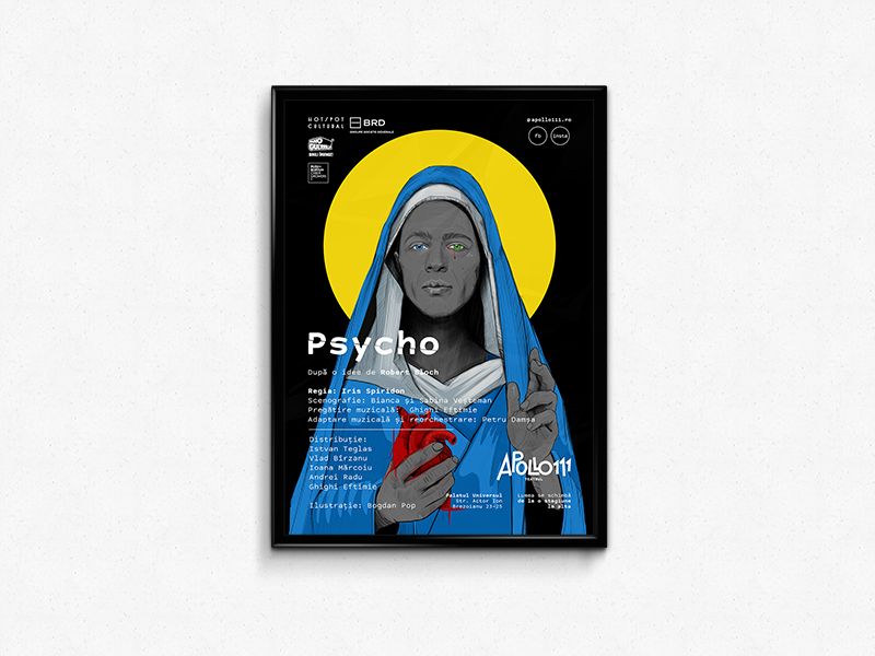 Psycho psycho drawing graphicdesign poster illustration