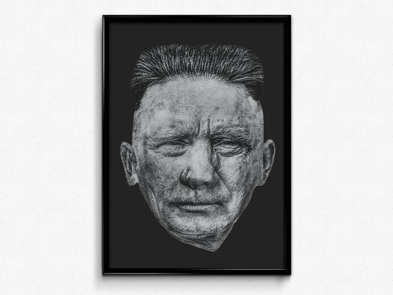 KimPutinTrump black and white collage photoshop war leaders photomanipulation portrait