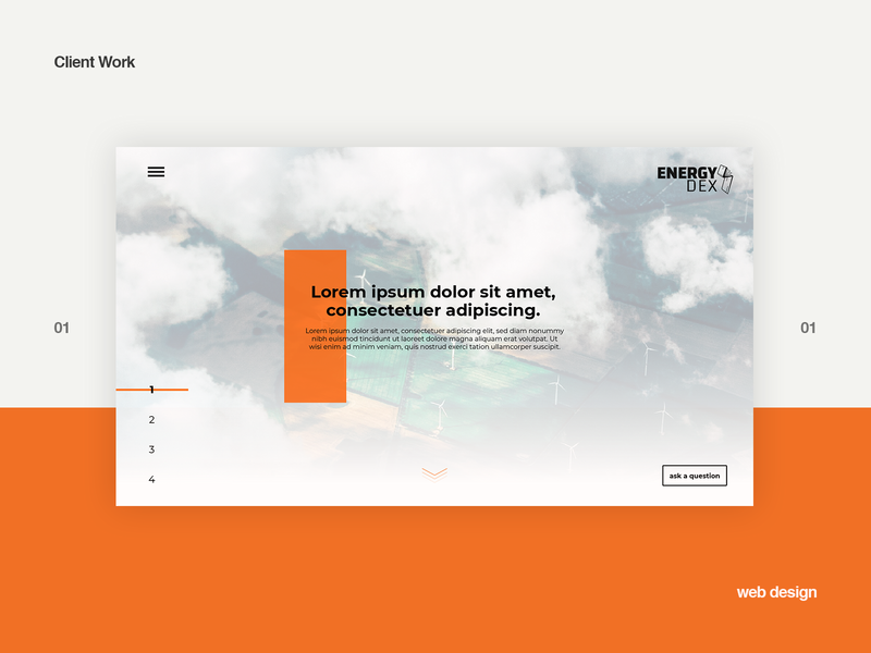 Landing page proposal homepage design web design landing page webdesign ui design minimal