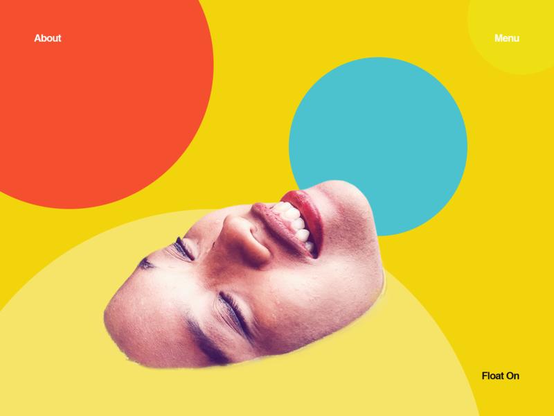 Float on yellow user interface ui minimal collage