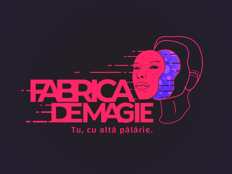 Fabrica de magie pink logo branding