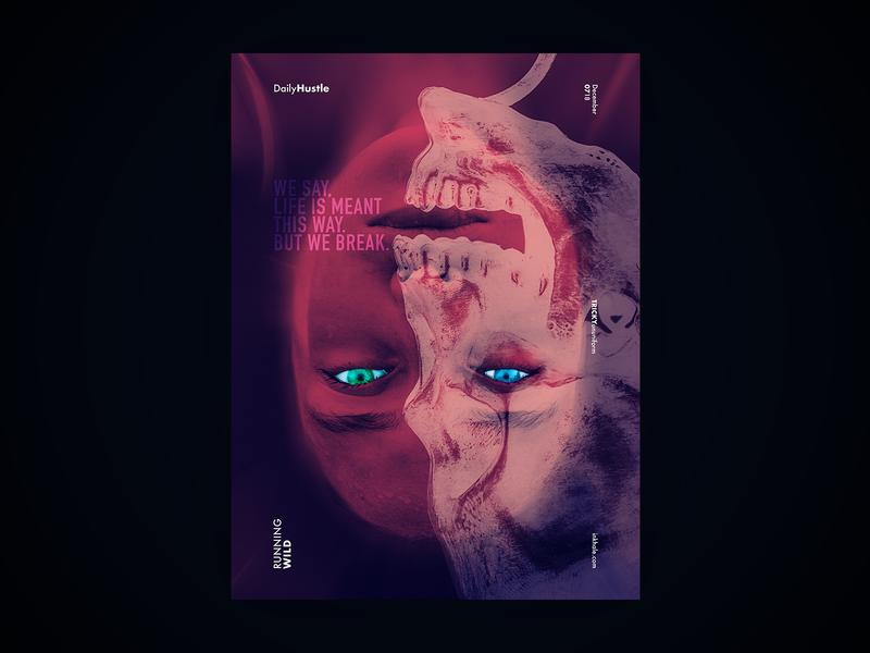 Running Wild music layout graphic deisgn poster