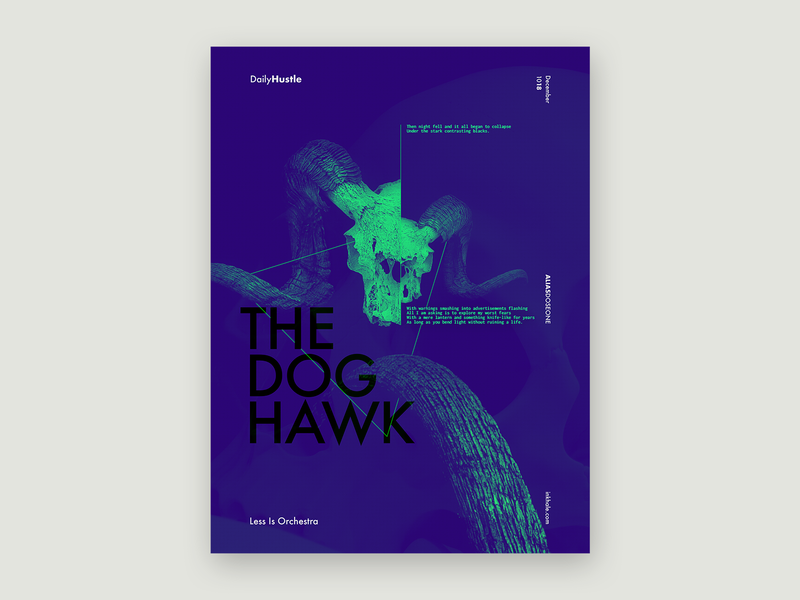 The Doghawk music lyrics collage layout graphic design typography design poster