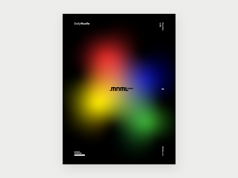 Mnml Mood gradient type minimal poster