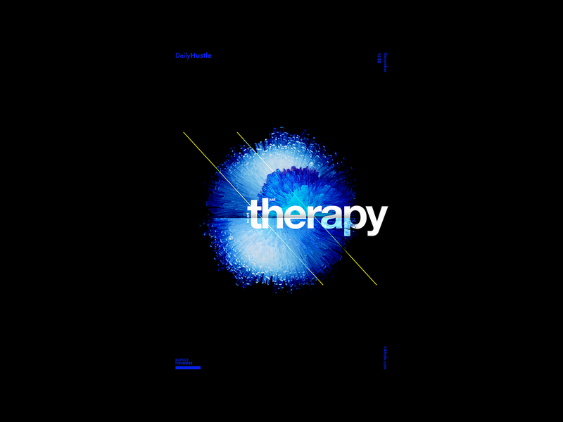 Therapy blue graphic design typography minimal poster