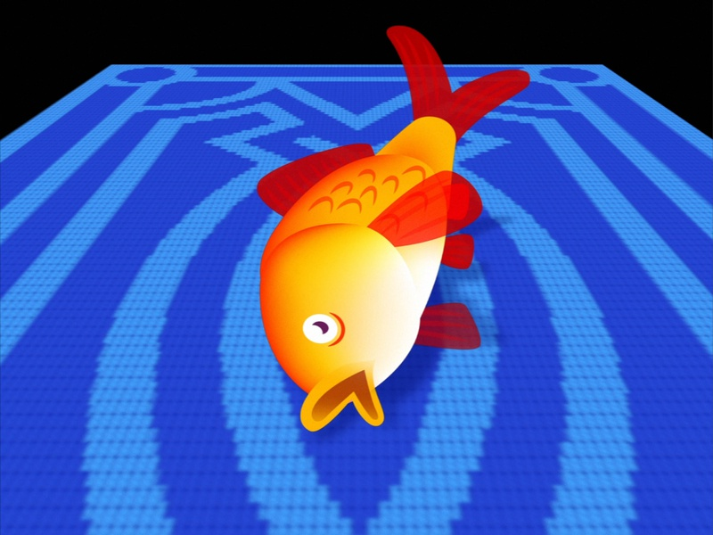 Goldfish on the carpet animation animal carpet goldfish