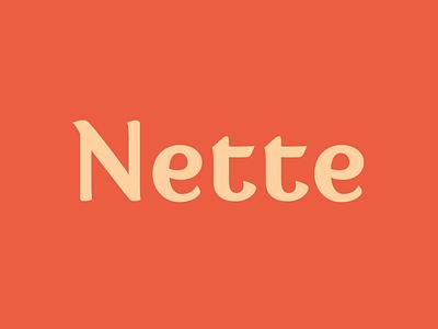 Nette fontface font design typedesign typeface