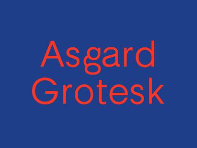 Asgard Grotesk type design typedesign font design typeface