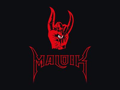 Maloik hand demon branding metal devil horns illustration