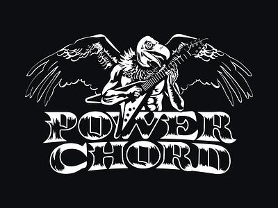 Power Chord power chord wings guitar logo music metal african animals vulture