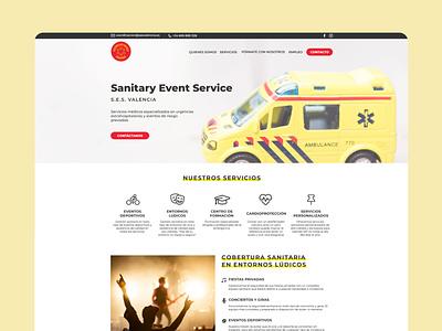 Sanitary web design web app design figma website minimal design web ux ui
