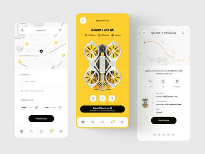 Air Taxi App Concept Design mobile ui mobile app mobile taxi app air taxi flying taxi booking app app design booking app ux ui user interface interface design taxi booking taxi