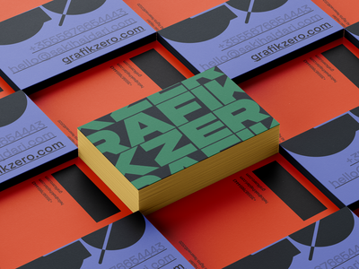 GRAFIKZERO ━ Business Cards brand identity bussines card logo typography personal brand design identity branding