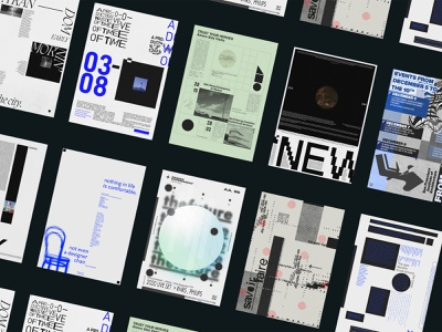 Posters grid editorial layout minimal geometric illustrator composition identity layout photoshop typogaphy typeface type posters