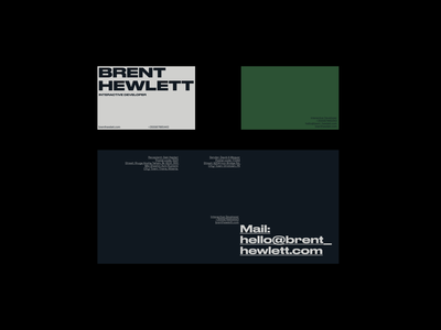 Business Card━02 envelope business card layout design layout editorial layout branding typogaphy grid editorial design brand identity identity