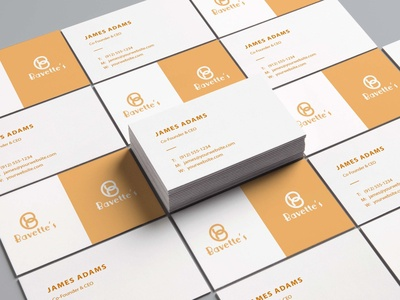 Bavettes Business Card Mockup