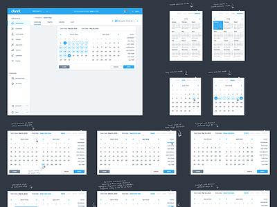Datepicker Study weekly monthly range dashboard picker date datepicker