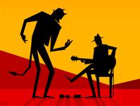 Diablo and guitar