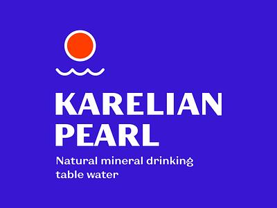 Mineral Water Logotype calm sunset wave mineral water natural mineral pearl karelian karelia water sun logotype