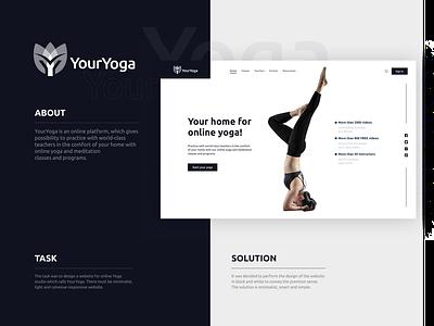 YourYoga - Responsive minimalist website uiuxdesign dailyui designer uitrends ui uidesigner blackandwhite yoga userinterfacedesign responsive userexperience uidesign designinspiration figma minimalism webdesign website ux uiux