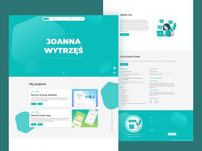 Personal Portfolio / Resume frontend ui portfolio website web design portfolio