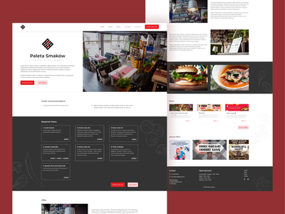Restaurant Website food restaurant website restaurant ui uidesign website webdesign web ui design adobe xd