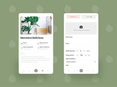 Plant Watering App ui mobile apps mobile ui ui design adobexd plant watering plant care mobile app app