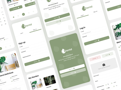 Plantd | Plant Watering Reminder App mobile adobe xd reminder watering plant care mobile app app plant ui design ui