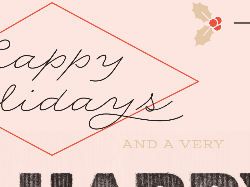 WIP- holiday cards card red typography pink holiday