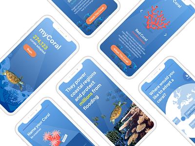 myCoral Mobile Experience ux ui design app