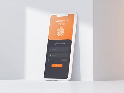 Thrive App Mockup mobile hackathon ux design ui app