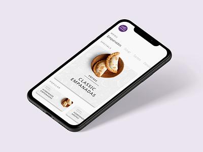 KW Empanadas Redesign food app ux mockup design ui