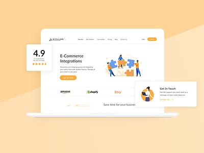 Stallion Express Website web design mockup ux design ui