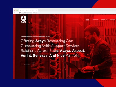 Landing page - DBSL landingpage landing page minimal website design website web ux ui illustration design branding