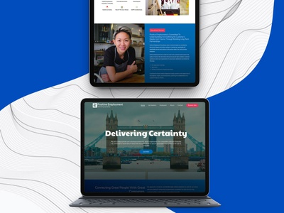 Recruitment Agency Website branding landingpage website design website web ux ui design
