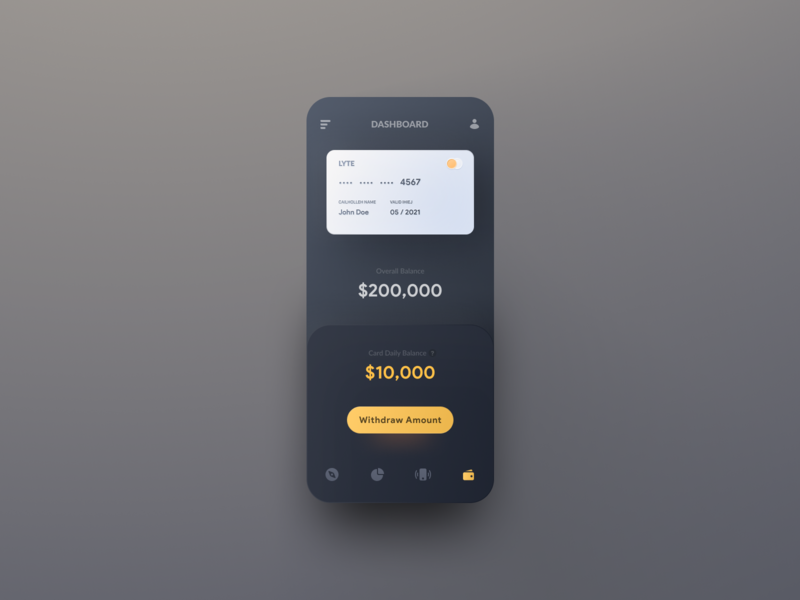 Payment Concept concept yellow dark card ui app design app payment app payment