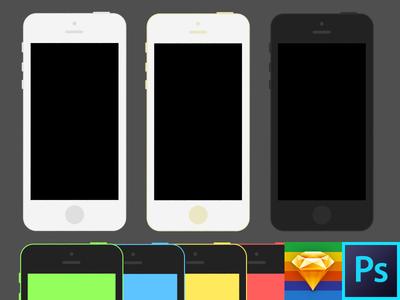 Iphone 5se + 5c Template