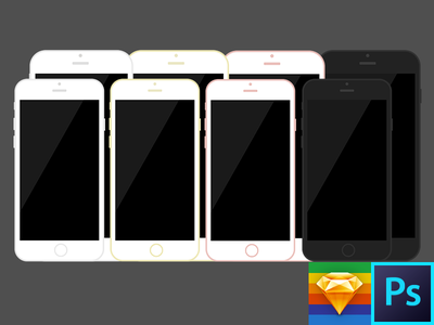 iPhone 7 & 7 Plus Flat Template free template iphone 7 plus iphone 7