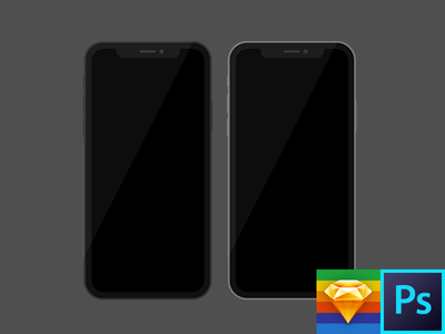 iPhone X Flat Template