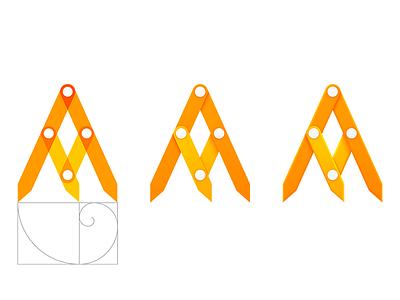 Fibonacci tool icon icon compass golden ratio fibonacci