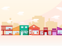 Shops Illustration