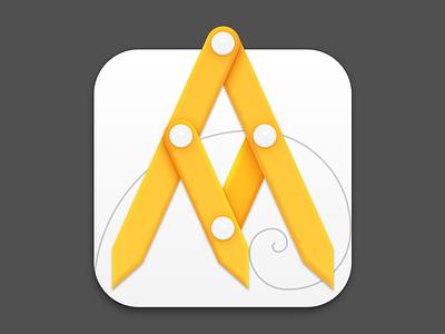 Goldie App for OS icon caliper fibonacci app golden ratio os