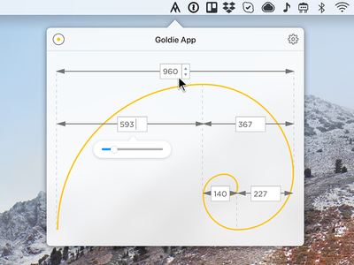 Goldie App for OS cute goldie fibonacci golden ration