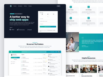 Landing page example for Tailwind UI landpage marketing tailwind tailwindcss