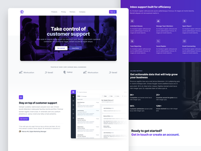 Landing page example for Tailwind UI landingpage marketing tailwind tailwindcss
