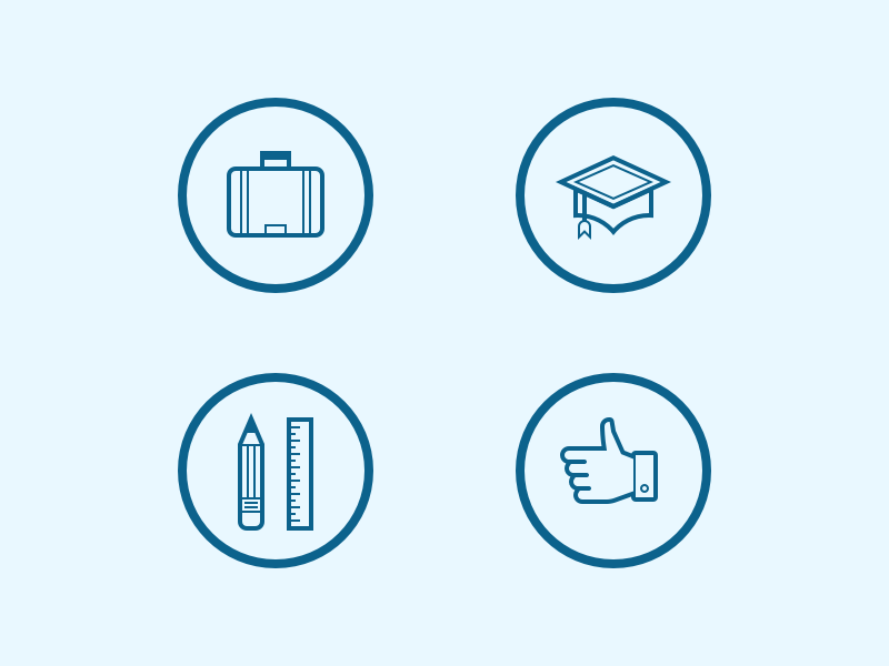 resume icons by steve schoger